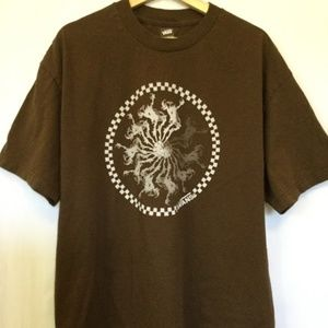 VANS Brown w/Graphics Sz Xlg Tshirt